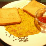 Besan Puda Served With Bread